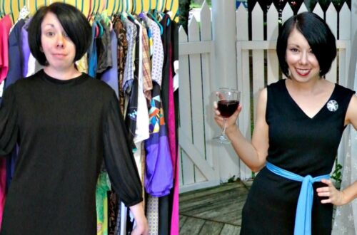An Asymmetrical V-neck Dress Refashion 16