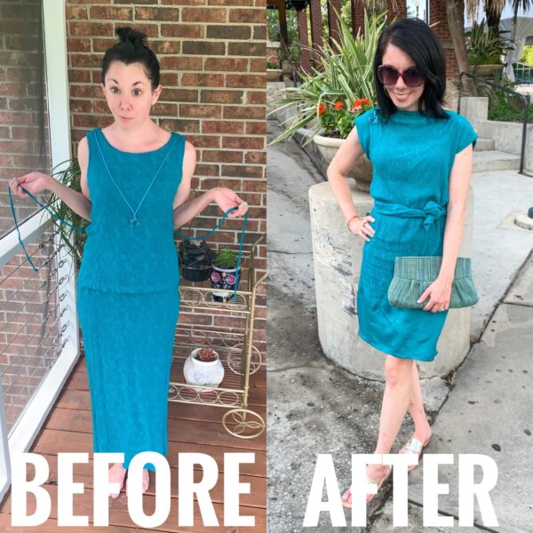 Refashionista Flip It! An Upside-Down Dress Refashion Before and After