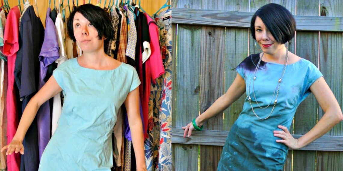 When I Dip You Dip We Dip Dye Dress Refashion 1