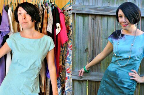 When I Dip You Dip We Dip Dye Dress Refashion 11