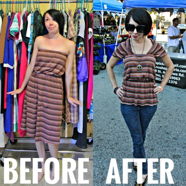 A Dress to Cowl Back Top Refashion | Refashionista