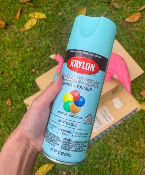 can of aqua spray paint