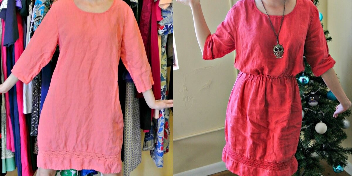 How to Add an Elastic Waist to a Dress: A Drastic Elastic Refashion 1