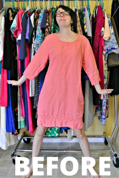 How to Add an Elastic Waist to a Dress: A Drastic Elastic Refashion 2