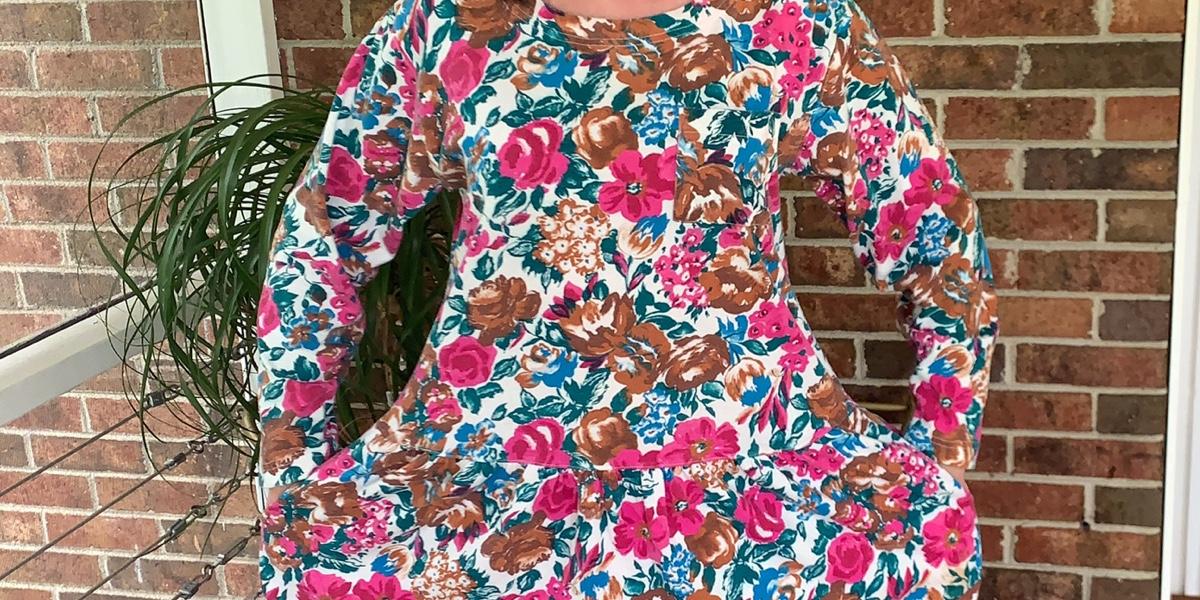 Dress to Elastic Waist Skirt DIY 1