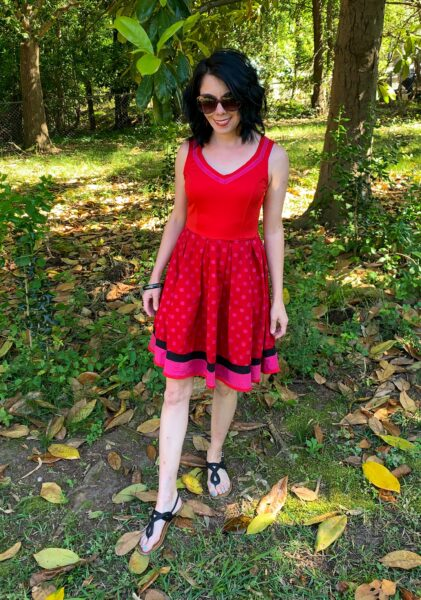 overdyed polka dot dress refashion after