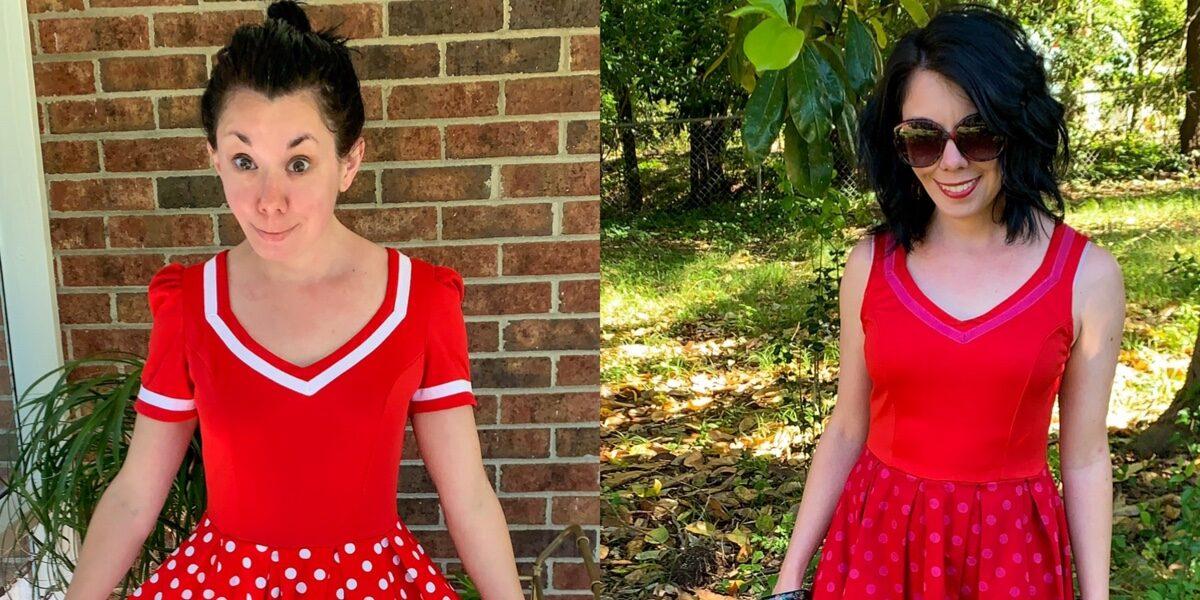 An Overdyed Polka Dot Dress Refashion 1