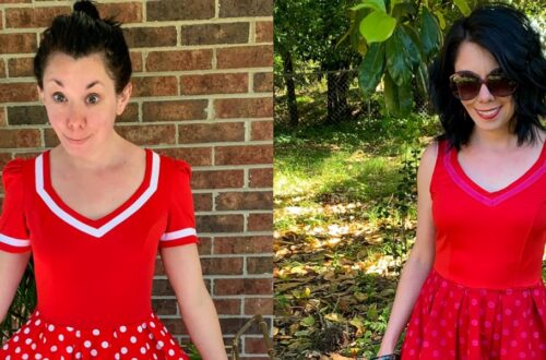 An Overdyed Polka Dot Dress Refashion 4