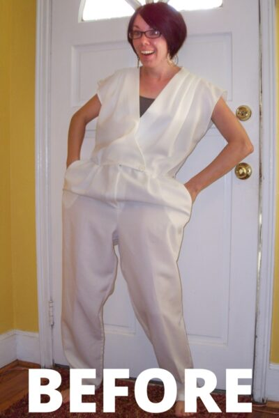 Day 56: '80s Jumpsuit to Dress Refashion: Yacht Party Edition 2