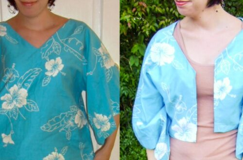Day 57: A Shirt to Bolero Refashion: Aloha Edition 3