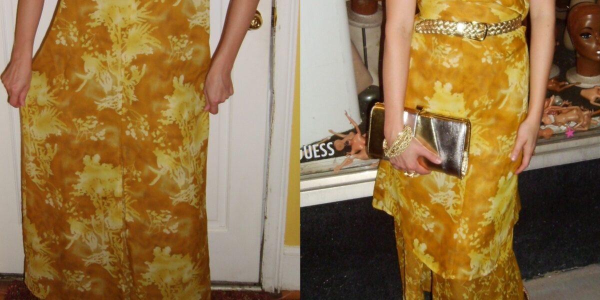 Day 64: No-Sew Refashion: Elegant Twist & Cinch Dress 1