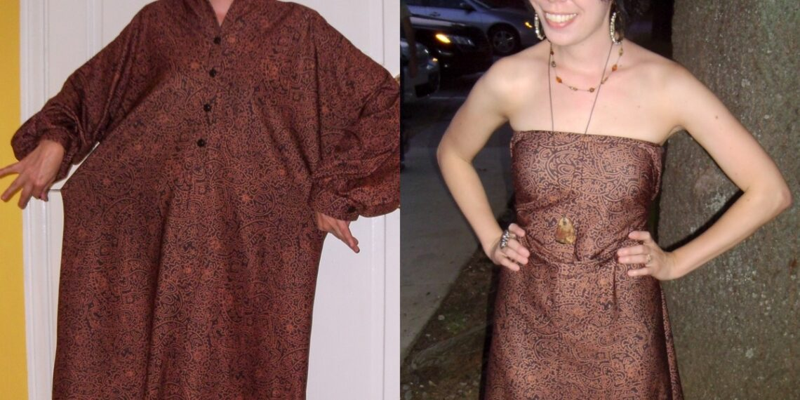Day 65:  The Easiest No-Sew Dress Refashion Ever 2