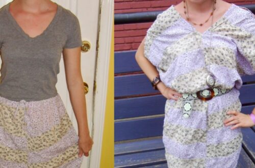 Day 67: Hippie Skirt to Dress Refashion 5