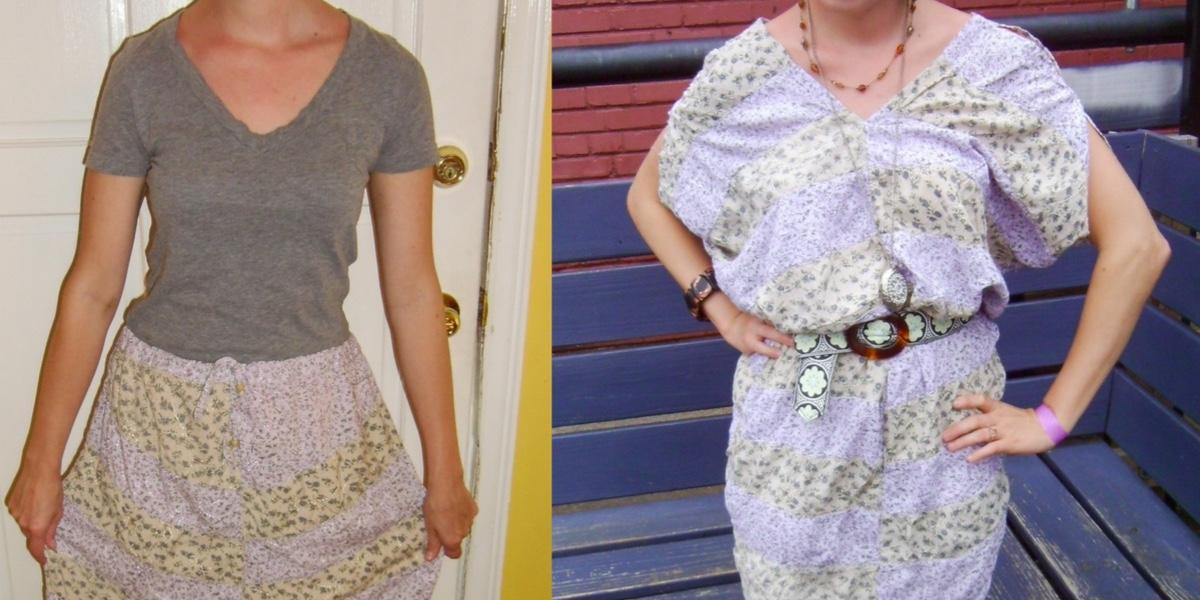 Day 67: Hippie Skirt to Dress Refashion 1