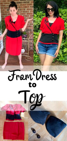 How to Turn a Thrifted Dress into a Top 5