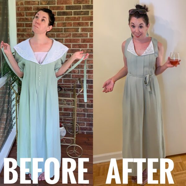 refashionista How to update a collared dress