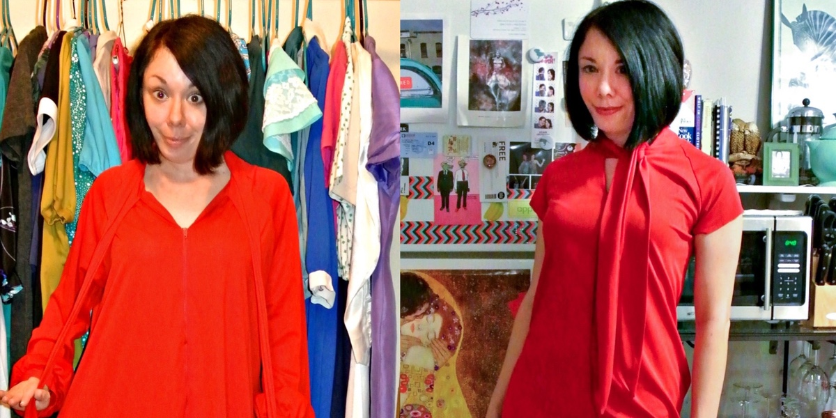 A Celebratory Housecoat to '60s Inspired Dress Refashion 1
