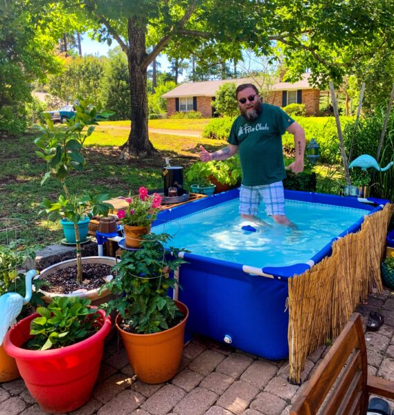 brian in pool
