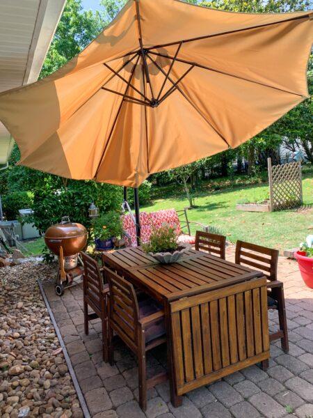 refinished patio set