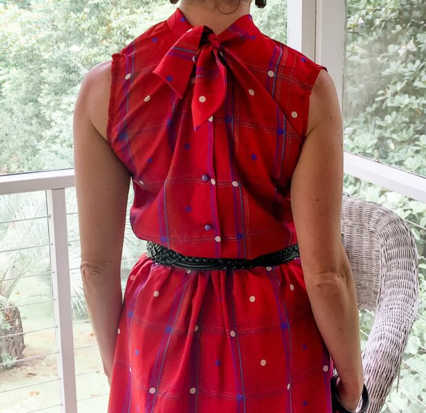 How to Refashion a Dress to be Worn Backwards back view