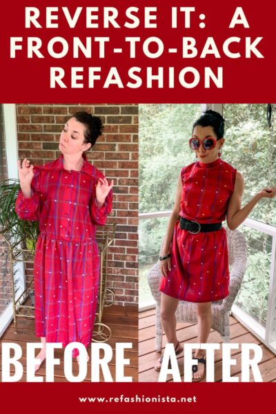 Refashionista How to Refashion a Dress to be Worn Backwards