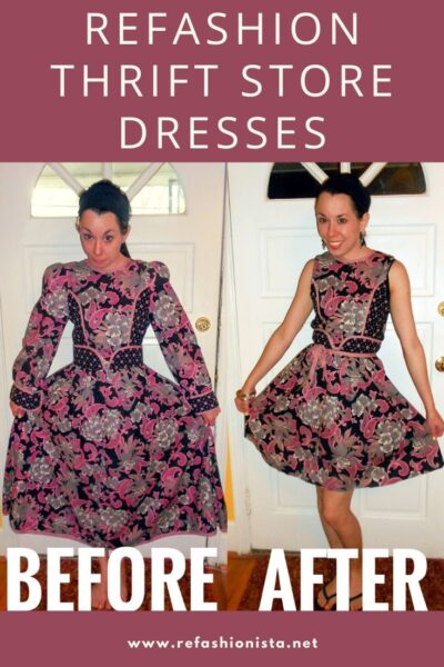 Day 258:  Ashes of Roses: Refashioning a Thrift Store Dress 4