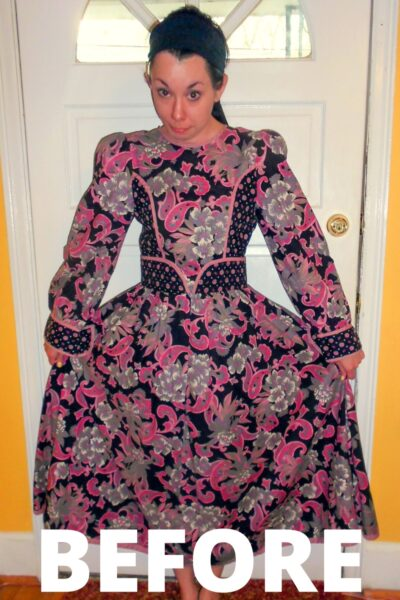 Day 258:  Ashes of Roses: Refashioning a Thrift Store Dress 5