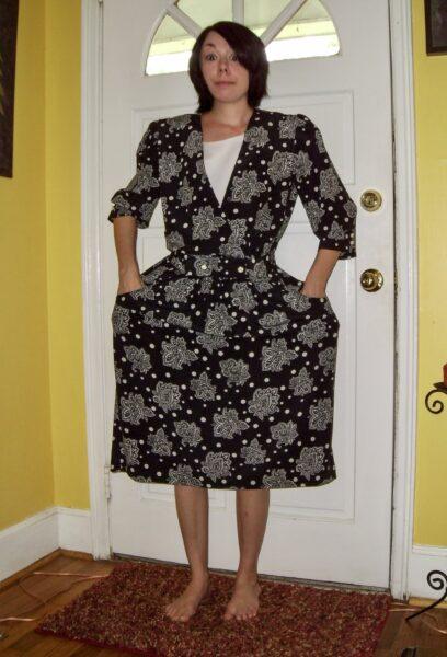 '80s Dress to Sleeveless Minidress Before