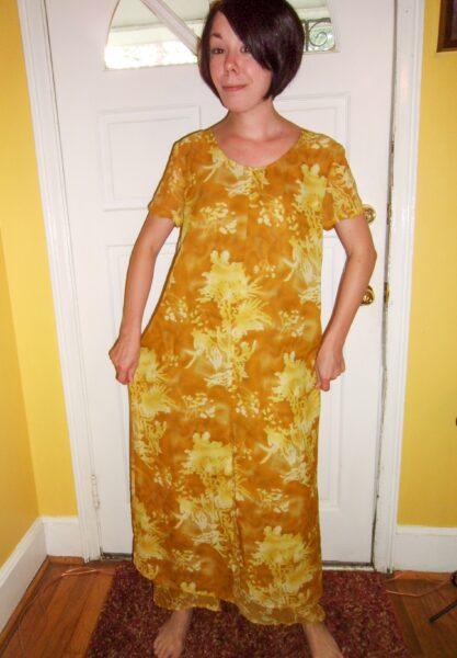 No-Sew Refashion: An Elegant Twist & Cinch Dress Before