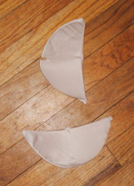 removed shoulder pads