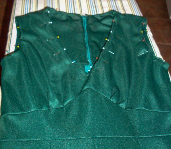 pinned neckline for dress