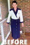 Yacht Rock Nautical Dress to Top Refashion 1