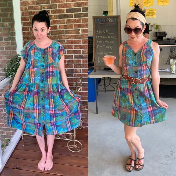 Mad About Madras: A Preppy '80s Dress Refashion 4