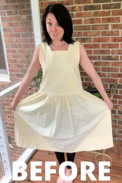 An '80s Jumper to '50s-Inspired Dress Refashion 2