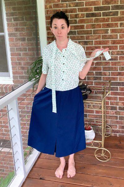 Refashionista DIY Halter Dress Refashion Before