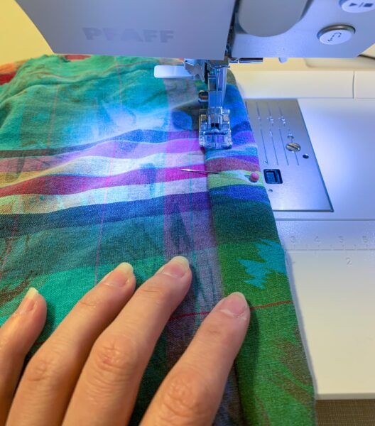 sewing hem on dress