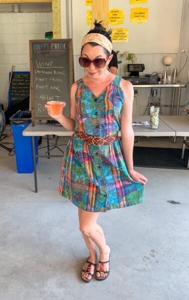refashionista 80s floral madras dress refashion after