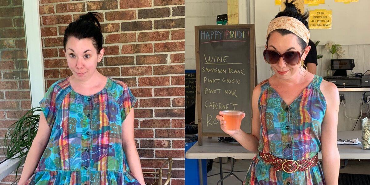 refashionista Preppy '80s Dress Refashion