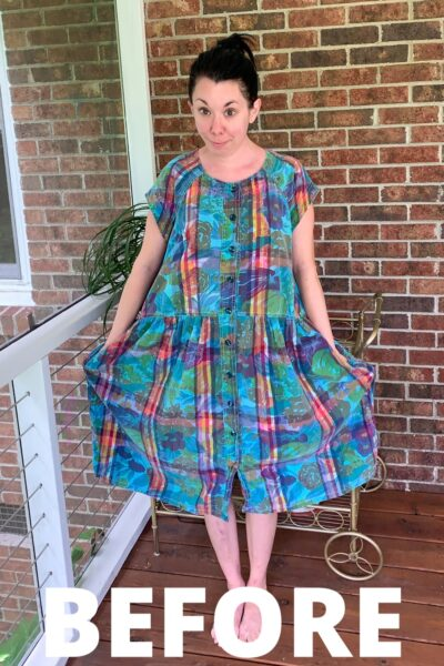 Mad About Madras: A Preppy '80s Dress Refashion 3