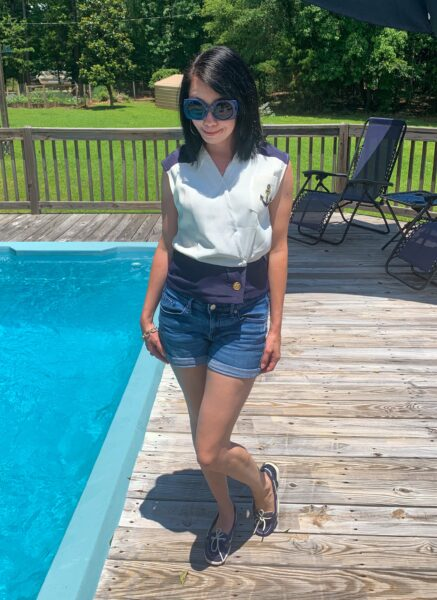 Refashionista Yacht Rock Dress to Top Refashion After