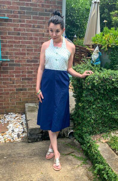 DIY Halter Dress After