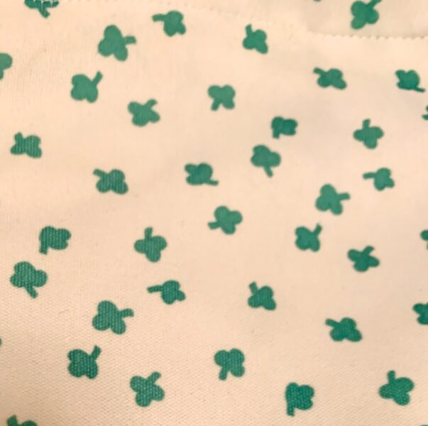 close up of clover fabric