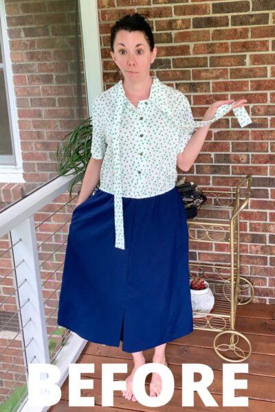 Easy DIY Halter Dress Refashion (No Pattern Needed!) 2