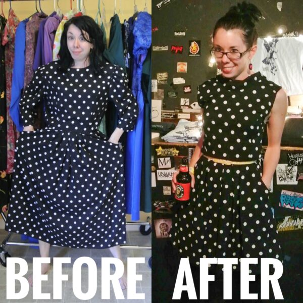 Refashionista Modcloth One Fell Swoop Dress Copycat Before and After