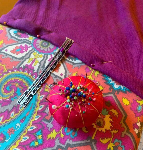pinning a new hem