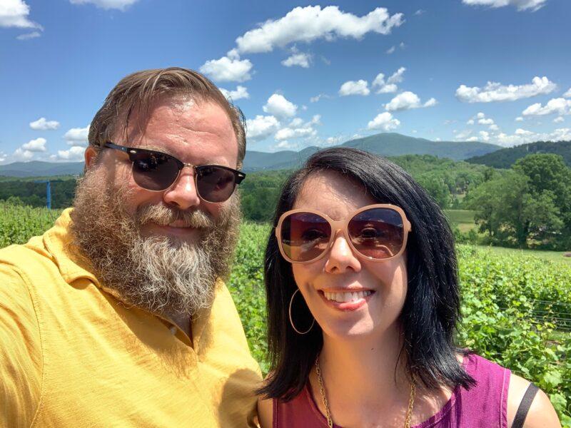 Brian and Jillian at winery