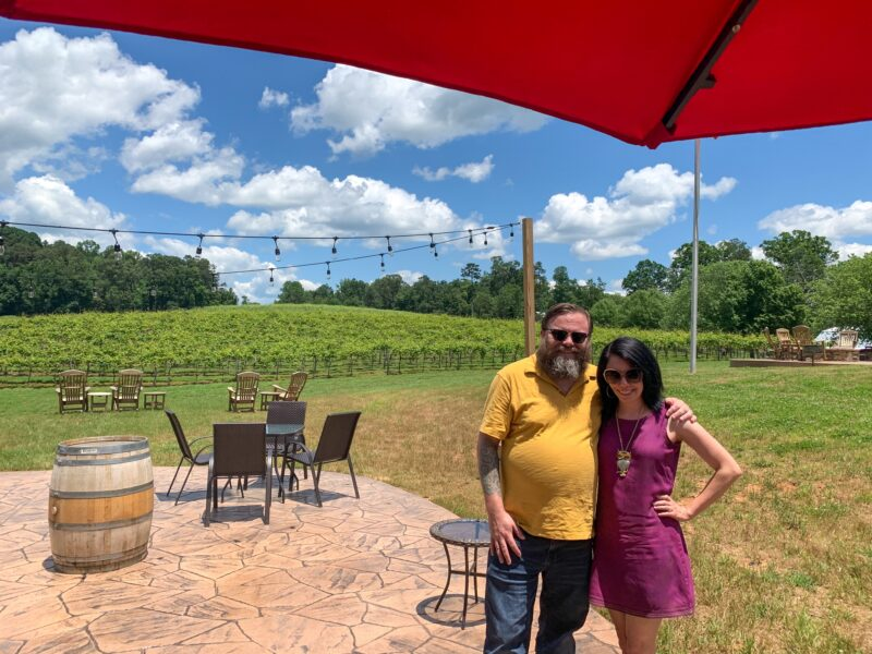 Jillian and Brian at winery