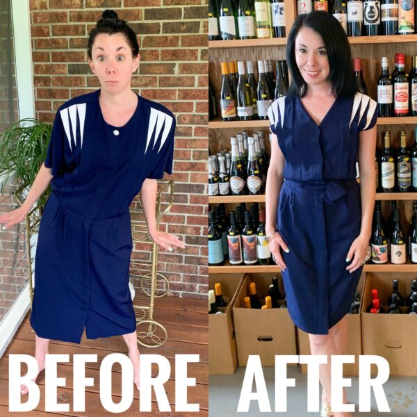 Refashionista 1940's Inspired Dress Refashion Before and After