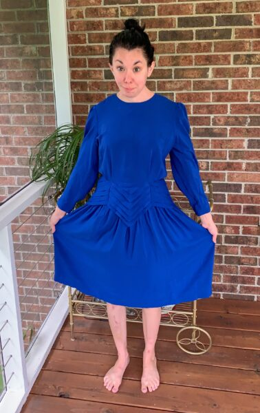 A Dress to Strapless Top DIY Refashion Before