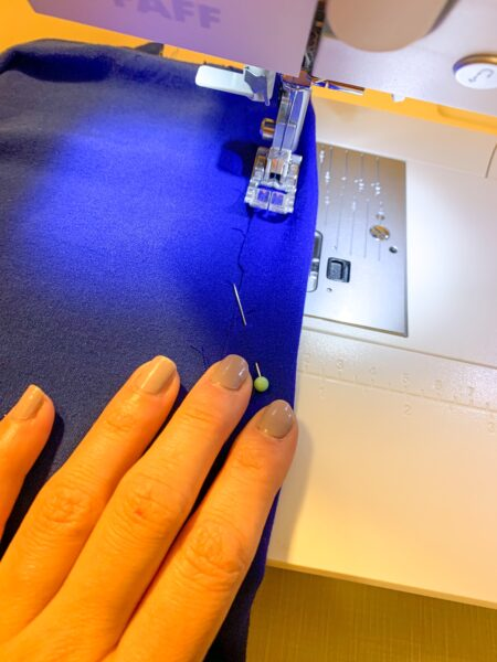 Sewing casing for elastic